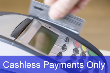Cashless Payments Only